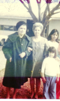 Great Grandma Maria, Grandma Lily, Older sister and Yvette